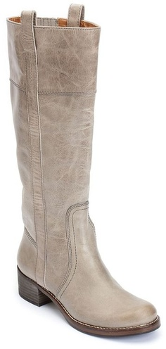 Lucky Brand Hibiscus Leather Riding Boots in Silver (light grey).    Have these and LOVE them!!!!!!!