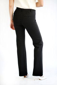 090e3e5b57 Boot-Cut   Black Pinstripe Dress Pant Yoga Pants #yogapants   yoga ...