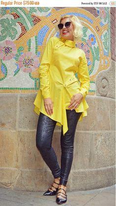 Just launched! ON SALE Extravagant Lemon Yellow Blouse / Pure Cotton Lemon Yellow Top / Asymmetrical Yellow Blouse / Asymmetrical Cotton Top TT97 / La Ramb https://www.etsy.com/listing/481463725/on-sale-extravagant-lemon-yellow-blouse?utm_campaign=crowdfire&utm_content=crowdfire&utm_medium=social&utm_source=pinterest