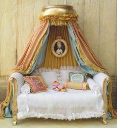 Love this idea for miniature sofa - for pincushion or fun! :)