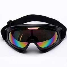 Minalo UV Protection Outdoor Sports Ski Glasses CS Army Tactical Military Goggles Windproof Snowmobile Bicycle Motorcycle Protective Glasses Ski Goggles  Perfect Design: Durable ABS plastic, UV400 protection PC lenses with anti-fog coating, to well block out the harmful ultraviolet light, reduce light intension, and remove object and road reflect stray glare.  Adjustable Elastic Strap: Adjustable non-slip and high elastic strap can suited for most ages and head sizes of any person,both men…