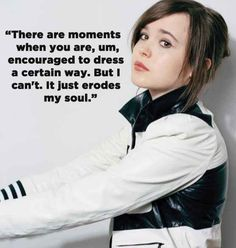 """A tabloid recently stated the actress, Ellen Page, dresses """"like a massive man."""" Looks like it's time for a quick schooling on Page's tomboy flawlessness."""