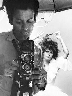 Richard Avedon and Sophia Lauren