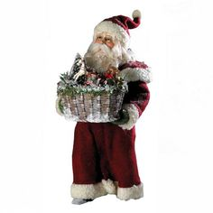 Kurt Adler 12Inch Fabriche Masterworks Santa with Basket *** To view further for this item, visit the image link.