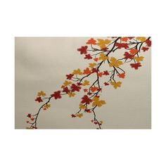 Varick Gallery Courts Maple Hues Flower Print Orange Indoor/Outdoor Area Rug Rug Size: 2' x 3'