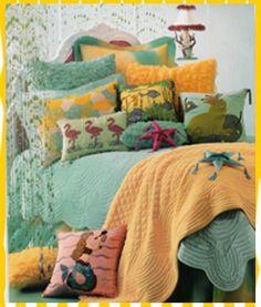 mermaid, kids, childrens, bedding, bed, set, luxury, designer, under, sea, frogs, turquoise, pink, child's