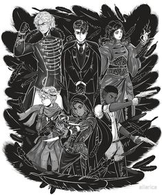 Inktober: Six of Crows