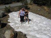 Cori and I in the snow near Yosemite July 2011