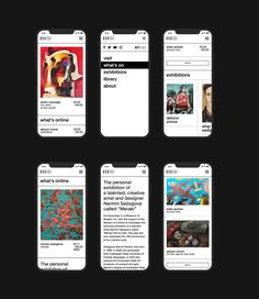 Museum of Modern Art Baku — Visual Identity on Behance Mobile Web Design, App Design, Identity Design, Visual Identity, Typography App, Creative Web Design, Ui Design Inspiration, Ui Web, Application Design