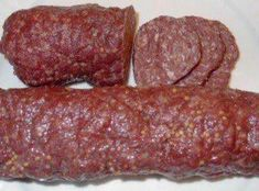 homemade summer sausage - my grandma's recipe….an easy recipe to use up extra ground beef or venison. -Easy homemade summer sausage - my grandma's recipe….an easy recipe to use up extra ground beef or venison. Homemade Summer Sausage, Summer Sausage Recipes, Homemade Sausage Recipes, Homemade Recipe, Venison Summer Sausage Recipe, Summer Recipes, Snacks Homemade, Easy Snacks, Jerky Recipes