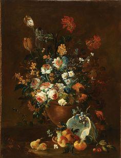 Follower of RACHEL RUYSCH (Dutch 1664-1750) Floral and Fruit Still Life