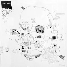Collaborative drawings between illustrator James and his brother Tom who has Downs Syndrome.