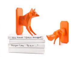 Unique design Bookends Reading Fox by DesignAtelierArticle on Etsy
