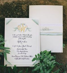 Oh So Beautiful Paper: Hand Painted Wedding Invitation Inspiration