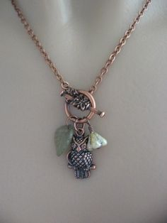 Owl Necklace Hoot Owl Necklace Copper Owl by CharmedValley on Etsy, $24.00