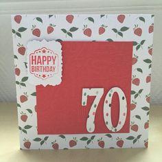 Carte de vœux joyeux anniversaire 70 ans : Cartes par sab-and-paper