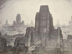 The Metropolis of Tomorrow by Hugh Ferriss