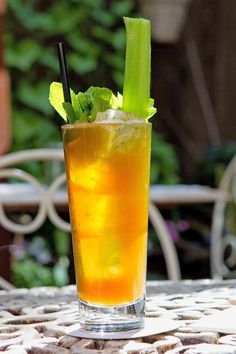 A Pimm's Cup's is nothing more than a measure of Pimm's and roughly three measures of either lemonade, lemon soda or ginger ale, served over ice in a long glass and garnished with cucumber. (Photo: Elizabeth Lippman for The New York Times)