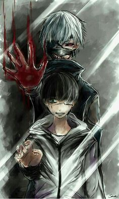 anime, tokyo ghoul, hes become a monster, but hes still my soft boi on the inside Inuyasha Anime, Manga Anime, Fanart Manga, Anime Art, Anime Guys, Anime Love, Sad Anime, Noragami, Fotos Do Kaneki
