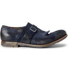 Church's Shanghai Suede Monk-Strap Shoes   MR PORTER