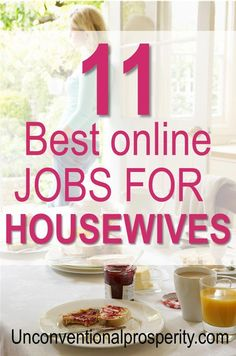 Here are some of the best online jobs for housewives to make some extra cash! Money tips for people working at home. #WAHM #money Earn More Money, Ways To Earn Money, Make Money Fast, Money Tips, Make Money From Home, Make Money Online, Money Hacks, Money Savers, Jobs For Housewives