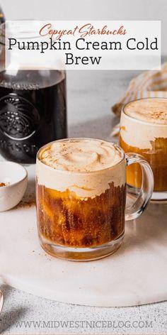 Pumpkin Coffee Recipe, Cold Brew Coffee Recipe, Starbucks Pumpkin Spice, Pumpkin Recipes, Pumpkin Drinks, Cold Brew Iced Coffee, Ninja Coffee Bar Recipes, Coffee Drink Recipes, Starbucks Recipes