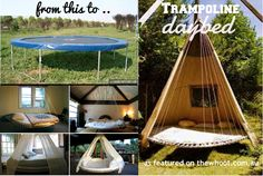 Trampoline Day Bed- that is a cool idea to use a trampoline for.