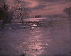 Dr. W. Simon - Landscape in winter, c.1910