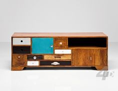 TV furniture A special TV dresser with classic and modern elements. Materials: The frame is made of mango wood and dashboard - drawers lacquered MDF.