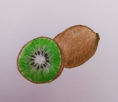 Kiwi draw fruit drawing