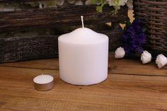 Κεριά Κυλινδρικά Λευκά Φ10x10εκ Pillar Candles, Taper Candles