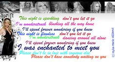 Taylor Swift enchanted lyrics