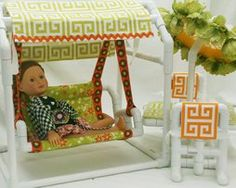 "You will love this cute PVC doll furniture for 18"" dolls!"