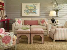 Vanguard Furniture: 600-2S - Hillcrest Sofa, V935-OT - Owen Ottoman, V315-CH - Park Chair, V428-CH - Colette Chair, V935-OT - Owen Ottoman