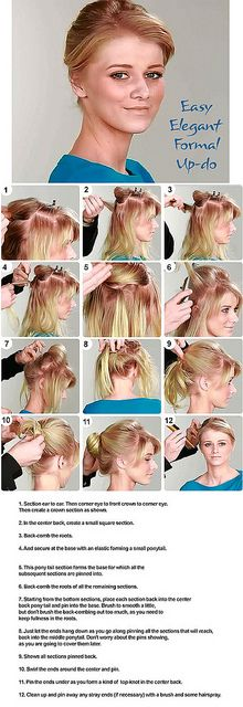 How to elegant formal updo