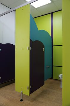Cubico: Bounce range of washroom cubicles for a nursery school in Rotherham