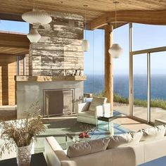 Dani Ridge House located in Big Sur, California was designed by Carver + Schicketanz. This beautiful modern home with rustic elements and has breathtaking views of the Pacific Ocean.