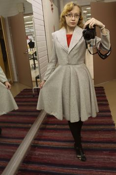 Ladylike Delicacy: SEWING : Trying out a shawl collar and sleeves