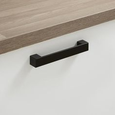 Kitchen cupboard handle - Black Square Bar Handle