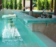 Take a look in these magical 15 awesome pool bar design ideas with tropical charm and get inspired to go and visit some. ideas with bar 15 Awesome Pool Bar Design Ideas Backyard Pool Designs, Swimming Pools Backyard, Swimming Pool Designs, Pool Landscaping, Backyard Ideas, Backyard Patio, Patio Ideas, Rooftop Pool, Bar Piscina