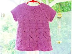 Toddler Girls Clothes Purple Cotton Baby by SilverMapleKnits