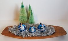 Vintage Set of 3 Hand Blown, Hand Painted Snowman Christmas Ornaments, Made In Poland by on Etsy Retro Vintage, Vintage Items, Snowman Christmas Ornaments, Vintage Ornaments, Recycled Materials, Country Of Origin, Vintage Christmas, Painted Snowman, Recycling