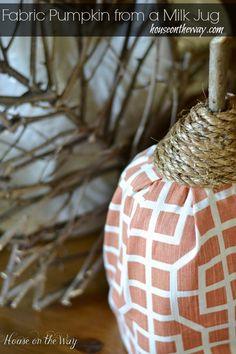 Fabric Pumpkin Made