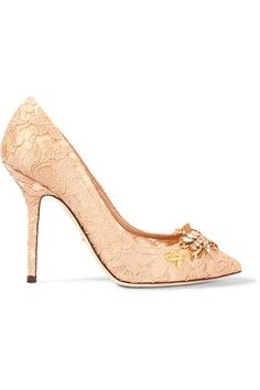 Heel measures approximately 100mm/ 4 inches Blush corded lace Slip on Made in Italy
