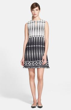 A great black and white Tory Burch tweed dress