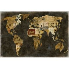 """East Urban Home 'Faraway Places' Graphic Art Print on Canvas Size: 12"""" H x 18"""" W x 0.75"""" D"""