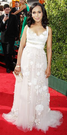 Kerry Washington's Red Carpet Style - In Marchesa, 2013 from InStyle.com