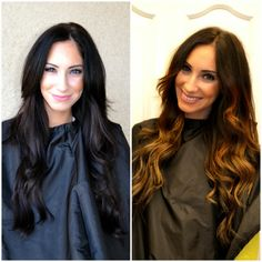 Before/ After Brunette Balayage