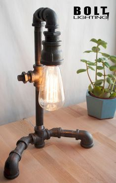 Are You Inspired? Visit Us For More Iron Pipe Lighting Creations Decor, Industrial Decor, Cool Lighting, Lamp, Industrial Lighting, Old Fashioned Light Bulbs, Industrial Lamp, Lights, Diy Lamp