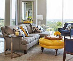 Amarelo e cinza na decoração